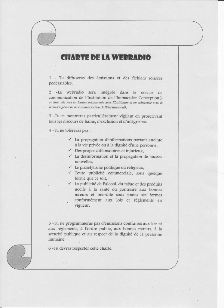 Charte de la Webradio